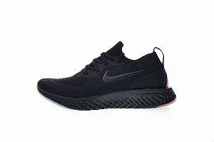Tênis Nike Epic React Flyknit - Feminino - Black Rainbow