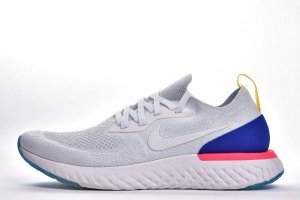 Tênis Nike Epic React Flyknit - Feminino - Branco e Azul
