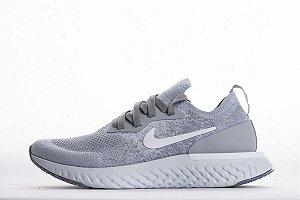 Tênis Nike Epic React Flyknit - Masculino - Cinza
