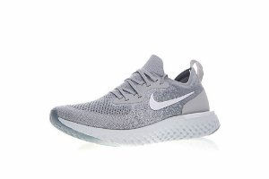 Tênis Nike Epic React Flyknit - Masculino - Cinza e Branco