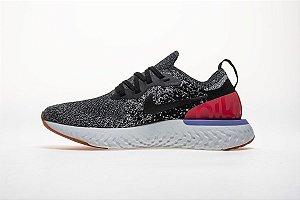 Tênis Nike Epic React Flyknit - Masculino - Cinza, Vermelho e Branco