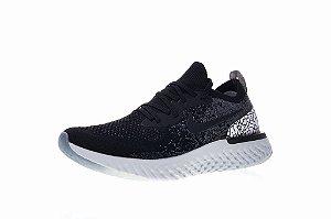 Tênis Nike Epic React Flyknit - Masculino - Preto, Branco e Cinza