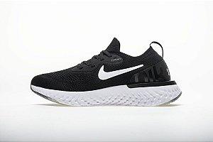 Tênis Nike Epic React Flyknit - Masculino - Preto e Branco
