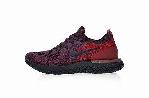 Tênis Nike Epic React Flyknit - Masculino - Roxo e Vermelho