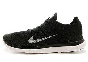 Tênis Nike Free 4.0 Flyknit - Feminino - Preto e Cinza
