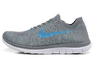 Tênis Nike Free 4.0 LunarGlide 6 - Masculino - Cinza e Azul