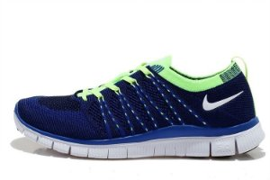 Tênis Nike Free 5.0 Flyknit - Feminino - Azul e Verde