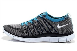Tênis Nike Free 5.0 Flyknit - Masculino - Cinza e Azul
