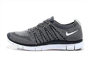 Tênis Nike Free 5.0 Flyknit - Masculino - Cinza e Preto