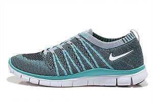 Tênis Nike Free 5.0 Flyknit - Masculino - Verde e Cinza