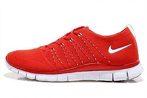Tênis Nike Free 5.0 Flyknit - Masculino - Vermelho