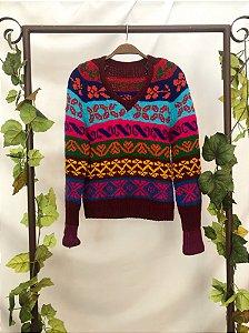 Blusa Vintage Tricot Colors