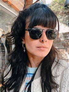 Óculos vintage duas lentes preto Sm