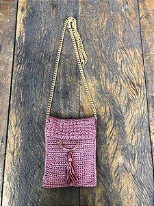 Bolsa de Tricôt rosa (P)
