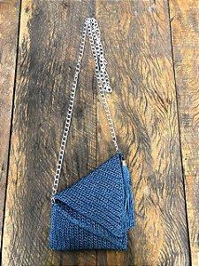 bolsa de Crochê Azul (P)