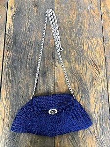 Bolsa de Crochê Azul Marinho (P)