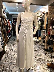 Vestido longo Alçinha acetinado (M)