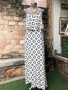 Vestido Alcinha Estampado (M)