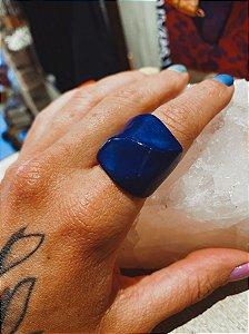 Anel Acrilico Azul