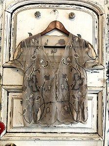 Blusa de Tule Indiana Bordada