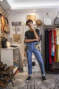 Calça jeans customizada 40