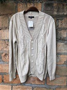 Casaquinho tricot off white GG