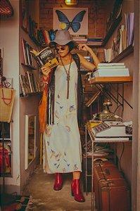 Vestido longo estampa de flores U