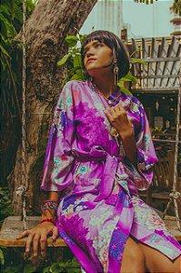 Kimono japonês lilás (estampa)