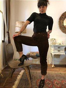 Calça cintura alta de camurça (42/44)