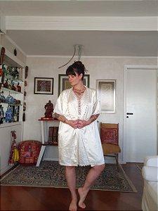 Camisola vintage de cetim com penhoar G