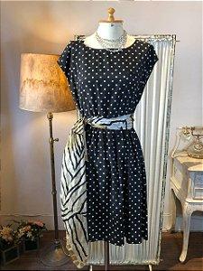 Vestido poá manga curta (XL)