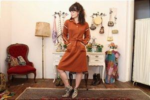 Vestido midi vintage lã G