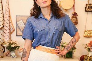 Camisa Jeans manga curta M