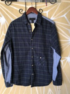 Camisa xadrez flanela e jeans M