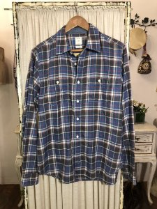 Camisa xadrez flanela azul M