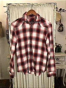 Camisa xadrez flanela vermelha M