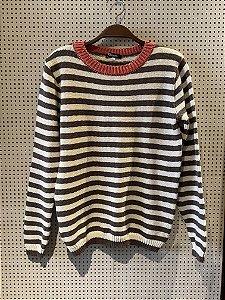 Blusa de tricot listrada (P)