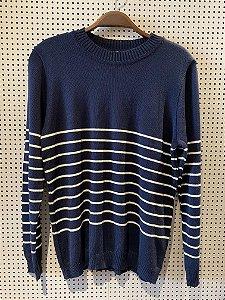 Blusa de tricot azul (M)