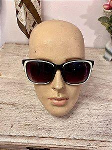 Oculos Quadrado Vintage Preto