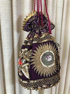 Bolsa vintage indiana bordada