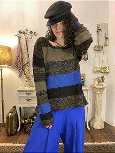Blusa de lã listrada  (G)