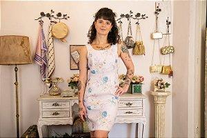 Vestido midi de linho estampado (38)