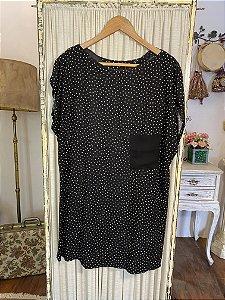 Vestido curto Poá Zara (M)