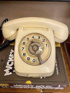 Telefone Vintage Bege (funcionando)