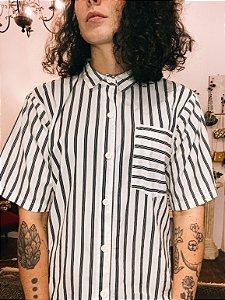 Camisa vintage listrada (G)