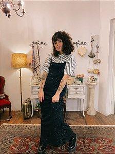Slip dress de malha com strass (G)
