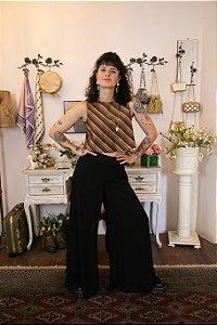 Pantalona Nova Fluida preta com forro (40)