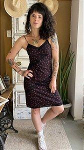 Slip dress Floral com renda (40)