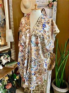 Kimono de seda animal print