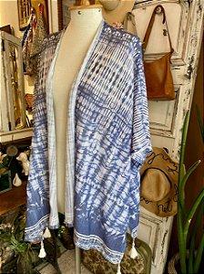 Kimono em algodão tie dye